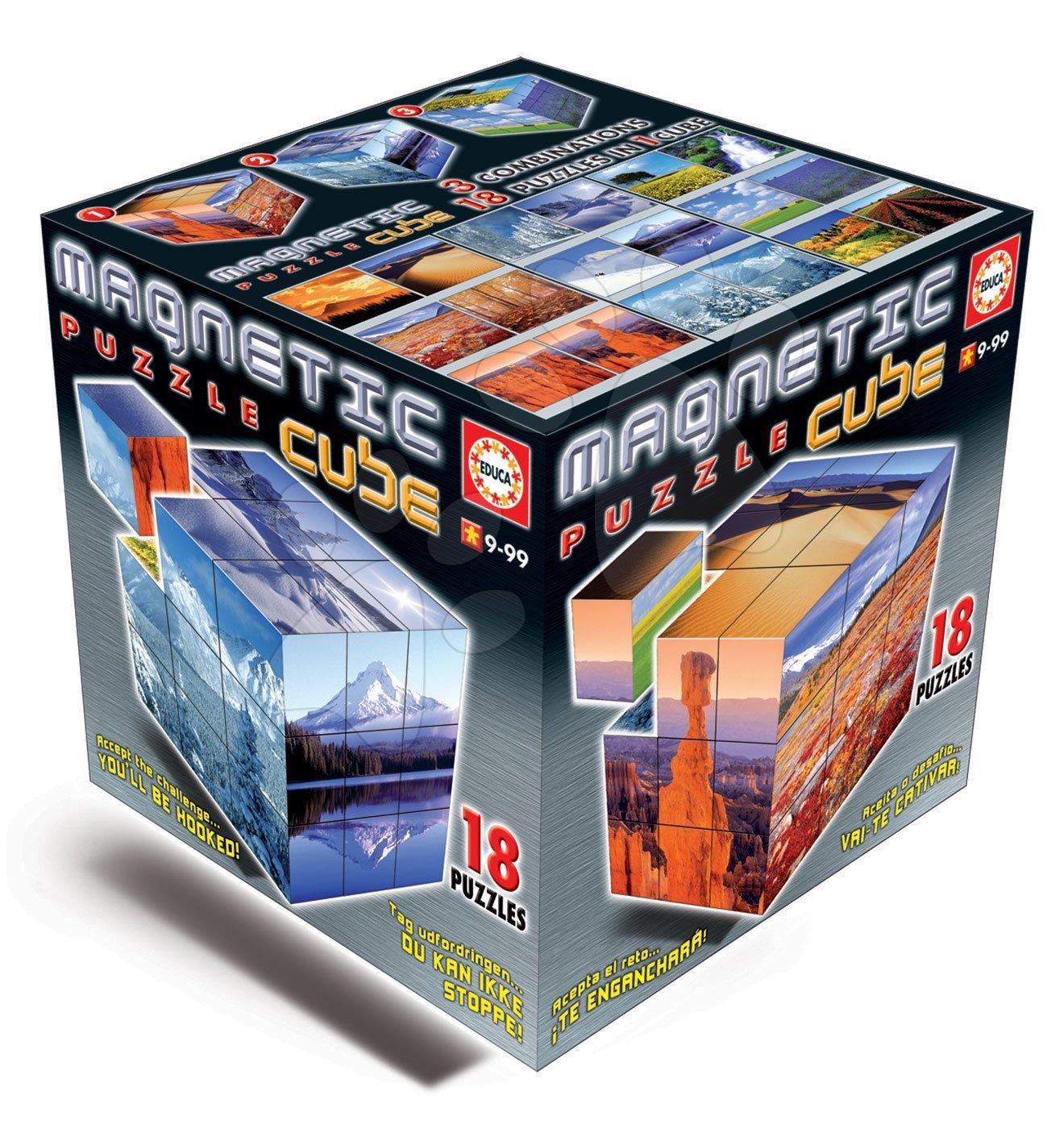 Puzzle Magnetic Cube, Landscapes Educa od 9 let