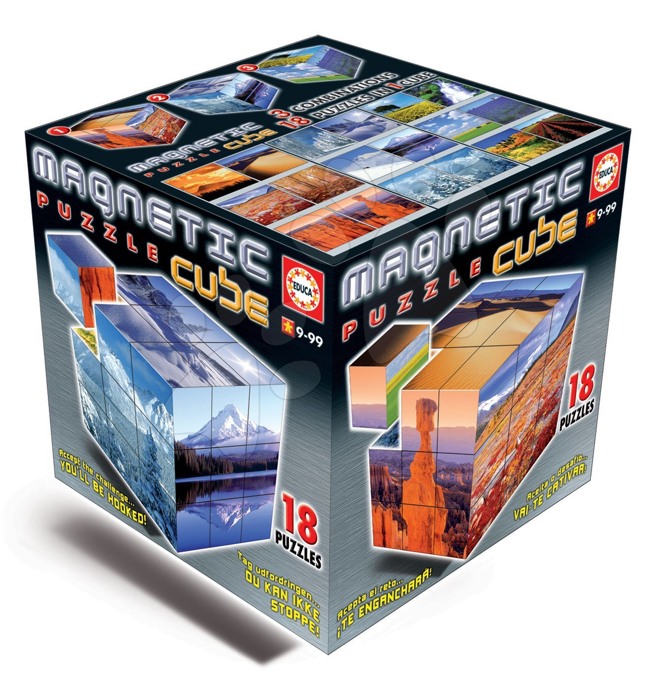 Magnetické puzzle kocky Magnetic Cube Landscapes Educa 18 dielov od 9 rokov