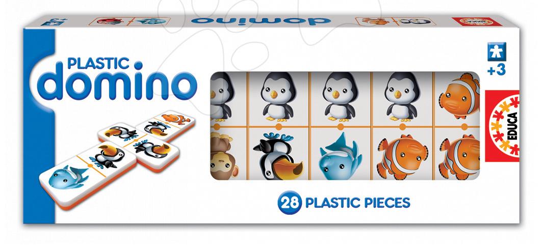 Hra domino Plastic Educa 28 ks so zvieratkami