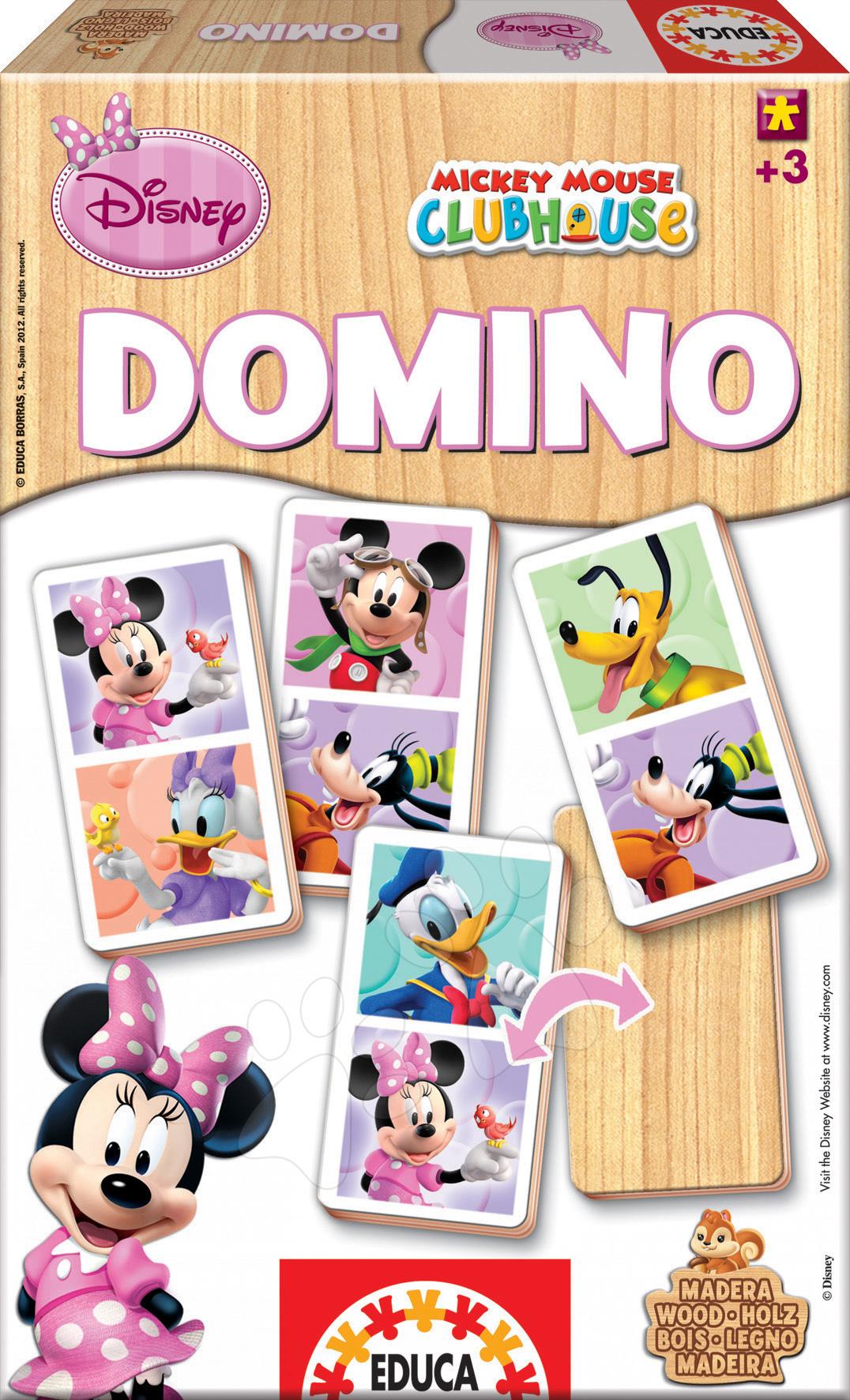Dřevěné domino Minnie Mouse a přátelé Educa 21 ks