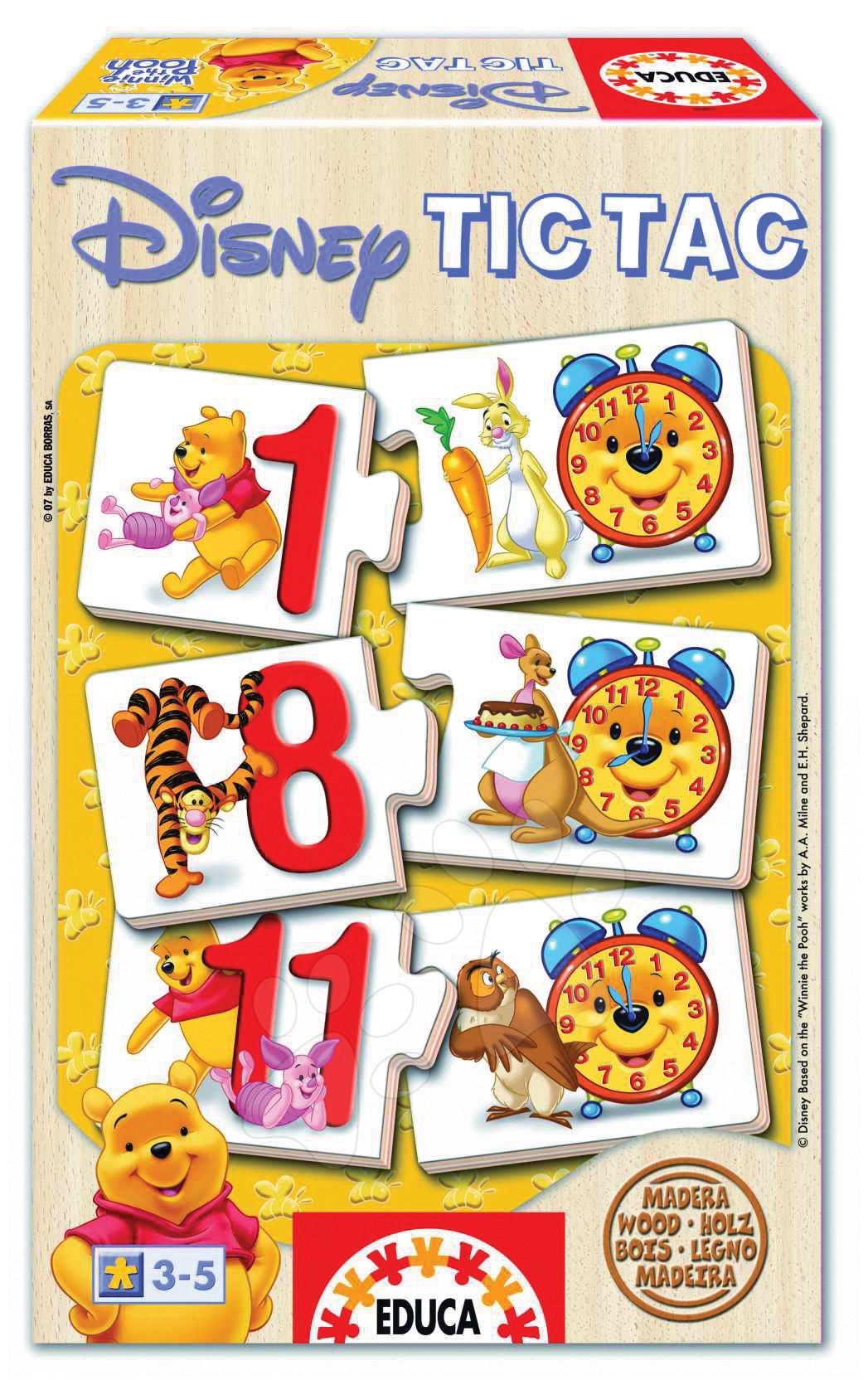 Disney Games Winnie the Pooh Tic Tac Educa dřevěné