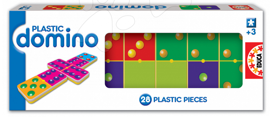 Domino pro nejmenší Plastic Educa 28ks s puntíky