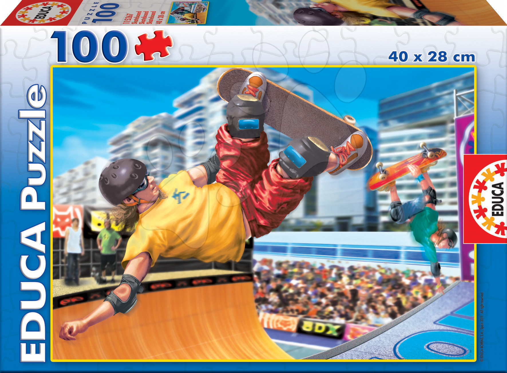 Detské puzzle Junior Skateboard Educa 100 dielov 15267 farebné