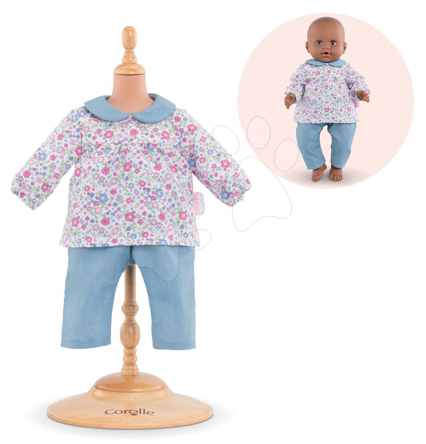 Oblečenie Blouse Flower & Pants Mon Grand Poupon Corolle pre 36 cm bábiku od 24 mes