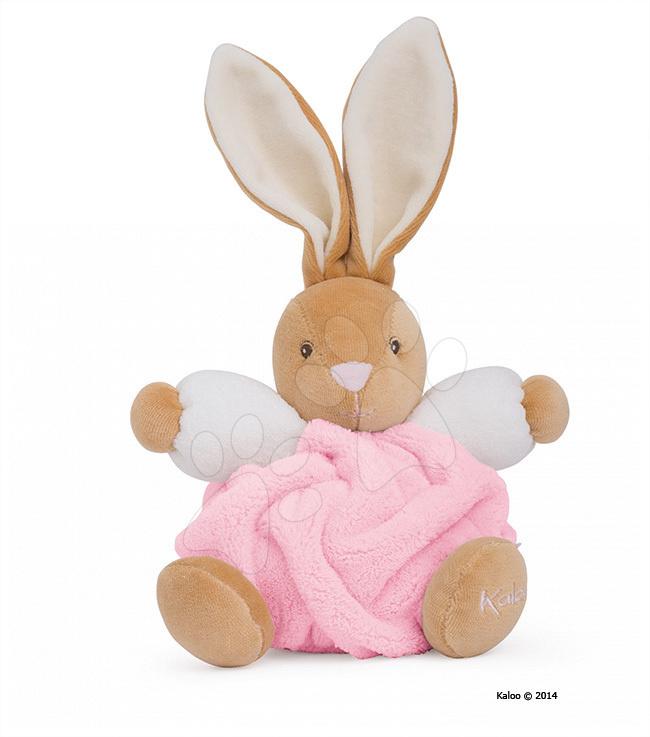 Plyšový zajíček Plume-Light Pink Rabbit Kaloo 18 cm v dárkovém balení pro nejmenší růžový
