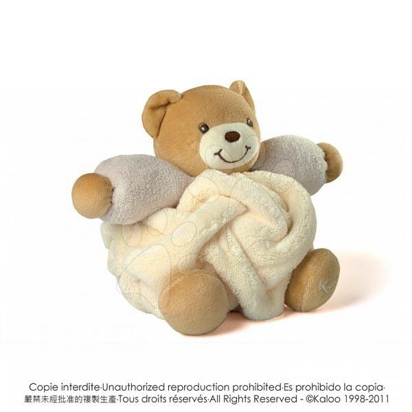 Plyšový medvídek Plume-Cream Bear Kaloo 18 cm v dárkovém balení pro nejmenší krémový