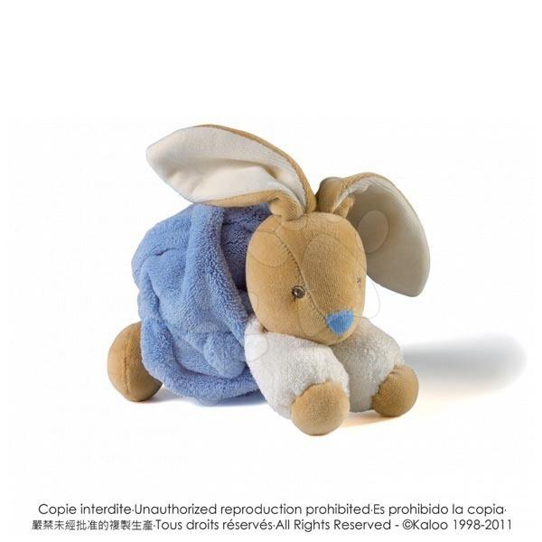 Hračky pre bábätká - Plyšový zajačik Plume-Indigo Rabbit Kaloo 18 cm v darčekovom balení pre najmenších modrý