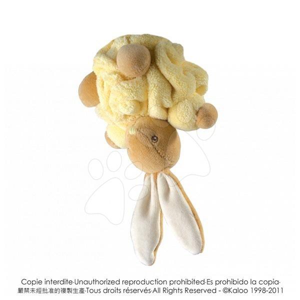 Plyšové zajace - Plyšový zajačik Plume-Mini Chubbies Kaloo 12 cm v darčekovom balení pre najmenších žltý