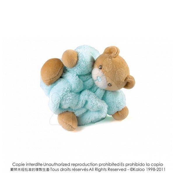 Plyšové medvede - Plyšový medvedík Plume-Mini Chubbies Kaloo 12 cm v darčekovom balení pre najmenších svetlomodrý