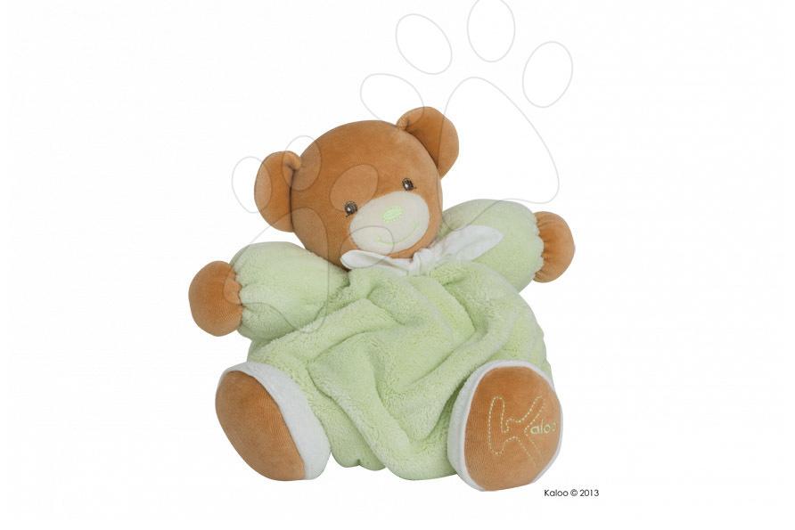 Plyšový medvídek Plume-Green Bear Kaloo 25 cm v dárkovém balení pro nejmenší zelený