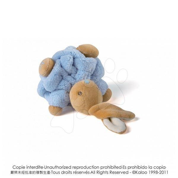 Plyšový králíček Plume-Mini Chubbies Kaloo 12 cm v dárkovém balení pro nejmenší modrý