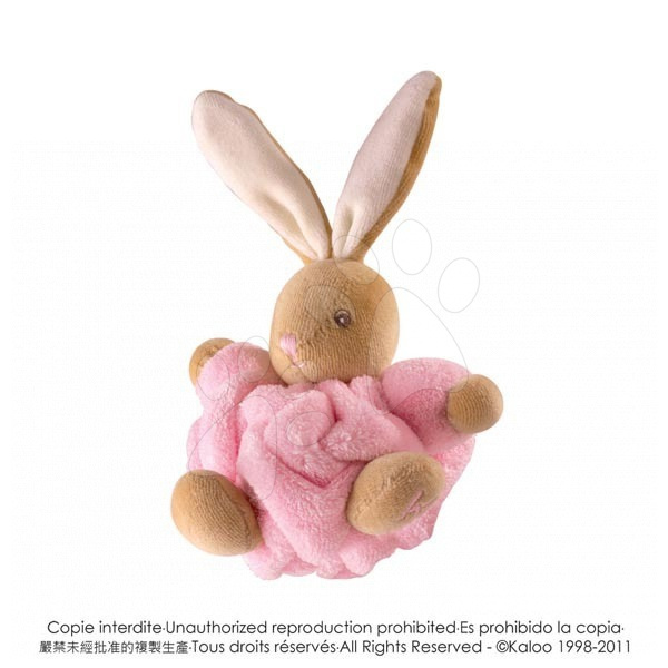 Plyšový králíček Plume-Mini Chubbies Kaloo 12 cm v dárkovém balení pro nejmenší růžový