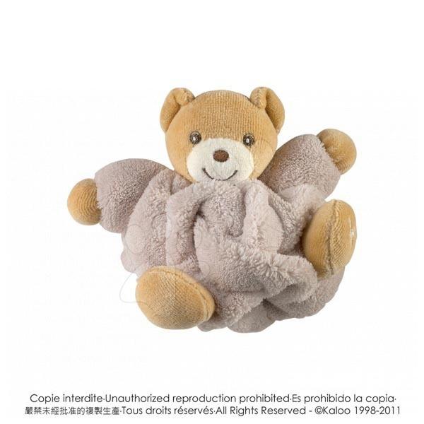 Plyšové medvede - Plyšový medvedík Plume-Mini Chubbies Kaloo 12 cm v darčekovom balení pre najmenších hnedý