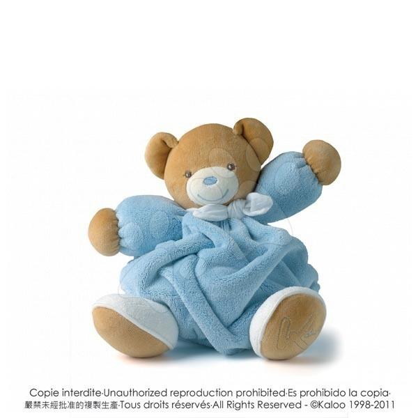 Plyšové medvede - Plyšový medvedík Plume-Blue Bear Kaloo 25 cm v darčekovom balení pre najmenších modrý