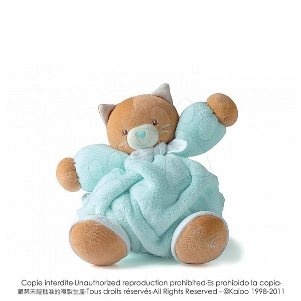Plyšové zvieratká - Plyšová mačička Plume-Aqua Cat Kaloo 25 cm v darčekovom balení pre najmenších tyrkysová