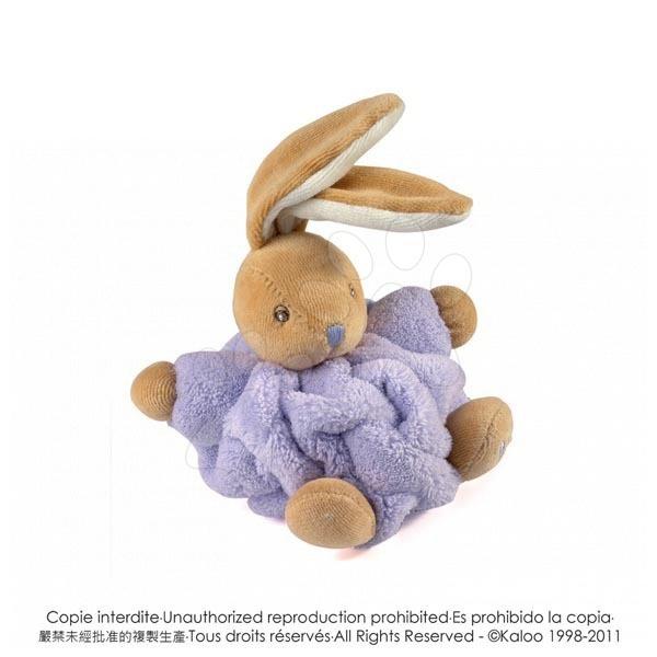 Hračky pre bábätká - Plyšový zajačik Plume-Mini Chubbies Kaloo 12 cm v darčekovom balení pre najmenších fialový
