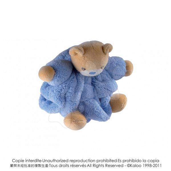 Plyšové medvede - Plyšový medvedík Plume-Mini Chubbies Kaloo 12 cm v darčekovom balení pre najmenších modrý