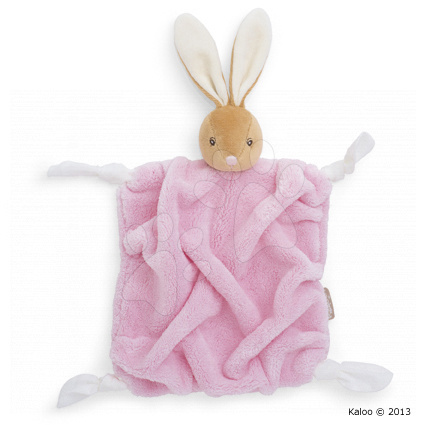 Plyšový králíček na mazlení Plume-Pink Rabbit Doudou Kaloo 20 cm v dárkovém balení pro nejmenší růžový