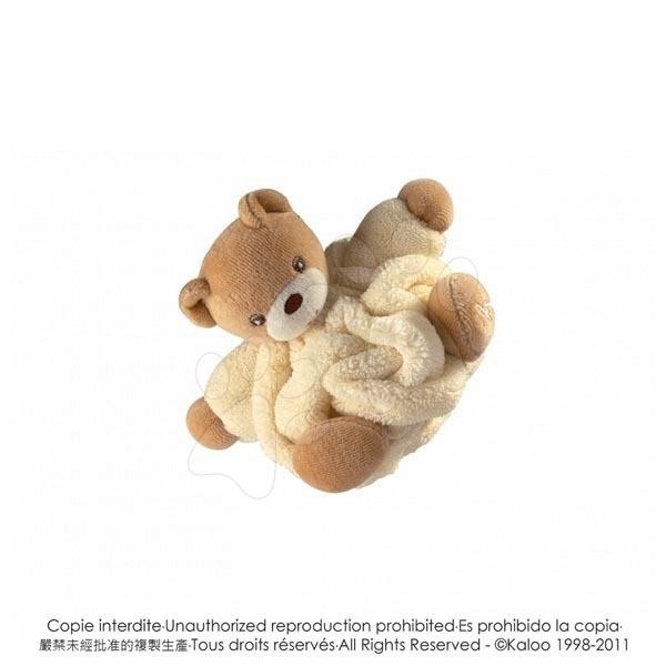 Plyšový medvídek Plume-Mini Chubbies Kaloo 12 cm v dárkovém balení pro nejmenší žlutý