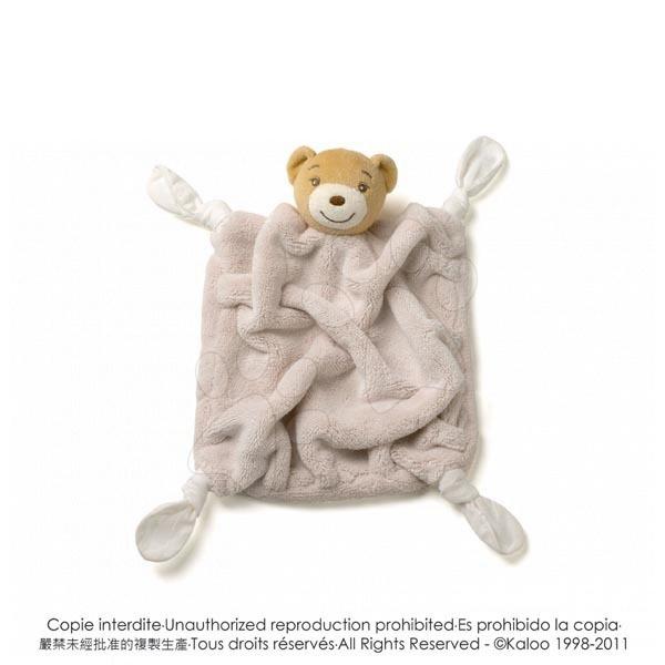 Hračky na maznanie a usínanie - Plyšový medvedík na maznanie Plume-Natural Bear Doudou Kaloo 20 cm v darčekovom balení pre najmenších hnedý