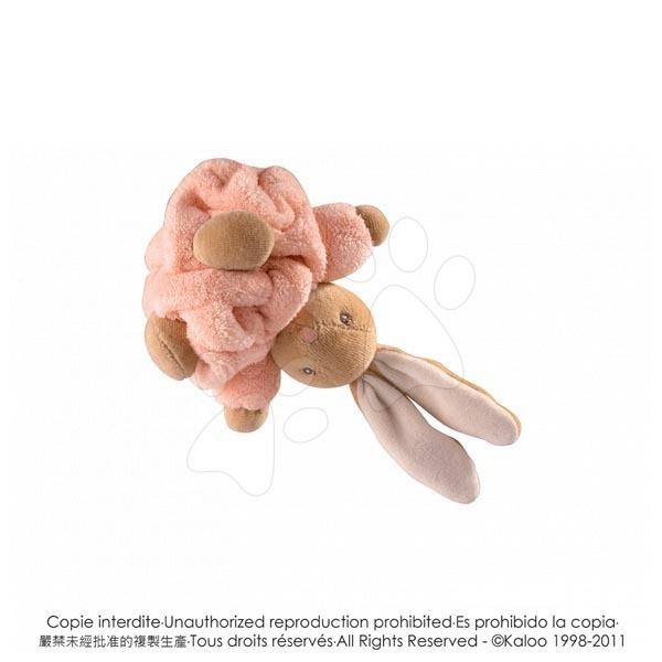 Plyšové zajace - Plyšový zajačik Plume-Mini Chubbies Kaloo 12 cm v darčekovom balení pre najmenších oranžový