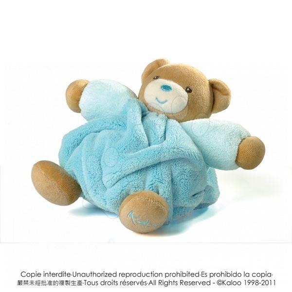Plyšové medvede - Plyšový medvedík Plume-Chubby Bear Kaloo 18 cm v darčekovom balení pre najmenších tyrkysový