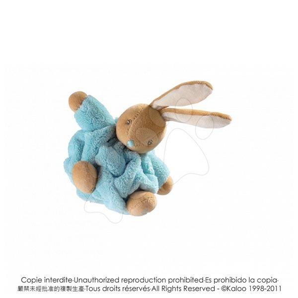 Plyšové zajace - Plyšový zajačik Plume-Mini Chubbies Kaloo 12 cm v darčekovom balení pre najmenších tyrkysový