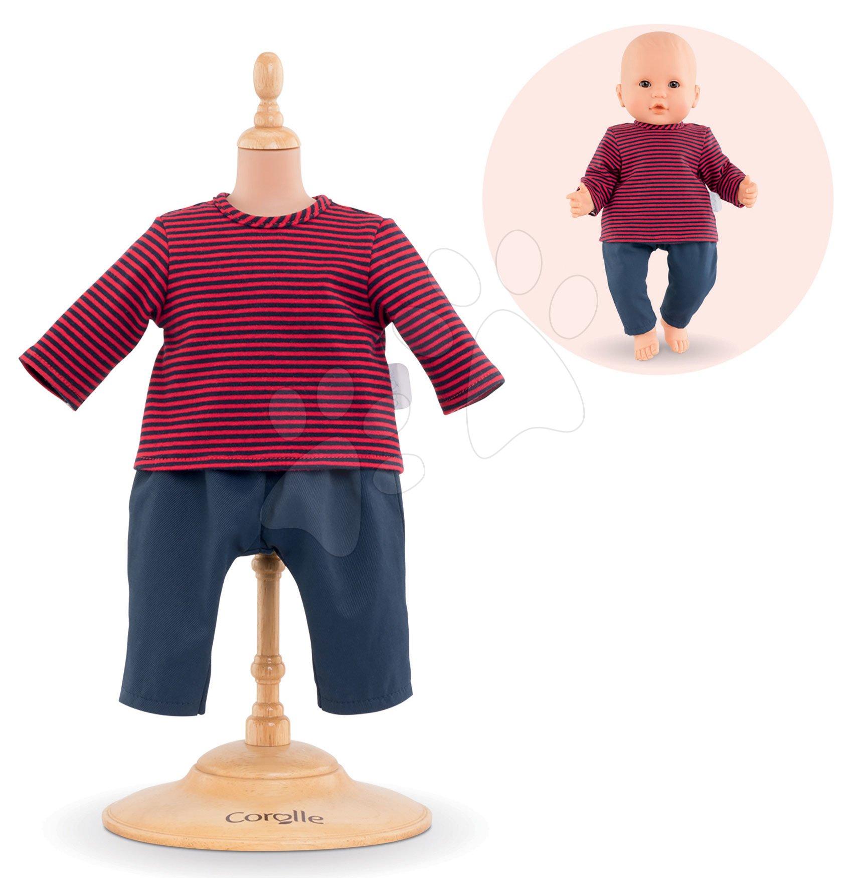 Oblečenie Striped T-shirt & Pants Mon Grand Poupon Corolle pre 36 cm bábiku od 24 mes