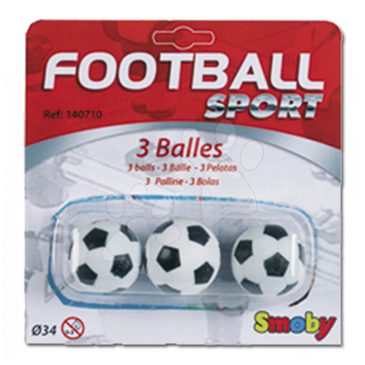 Futbal - Futbalové loptičky Smoby 3 ks korkové/plastové priemer 34/35 mm