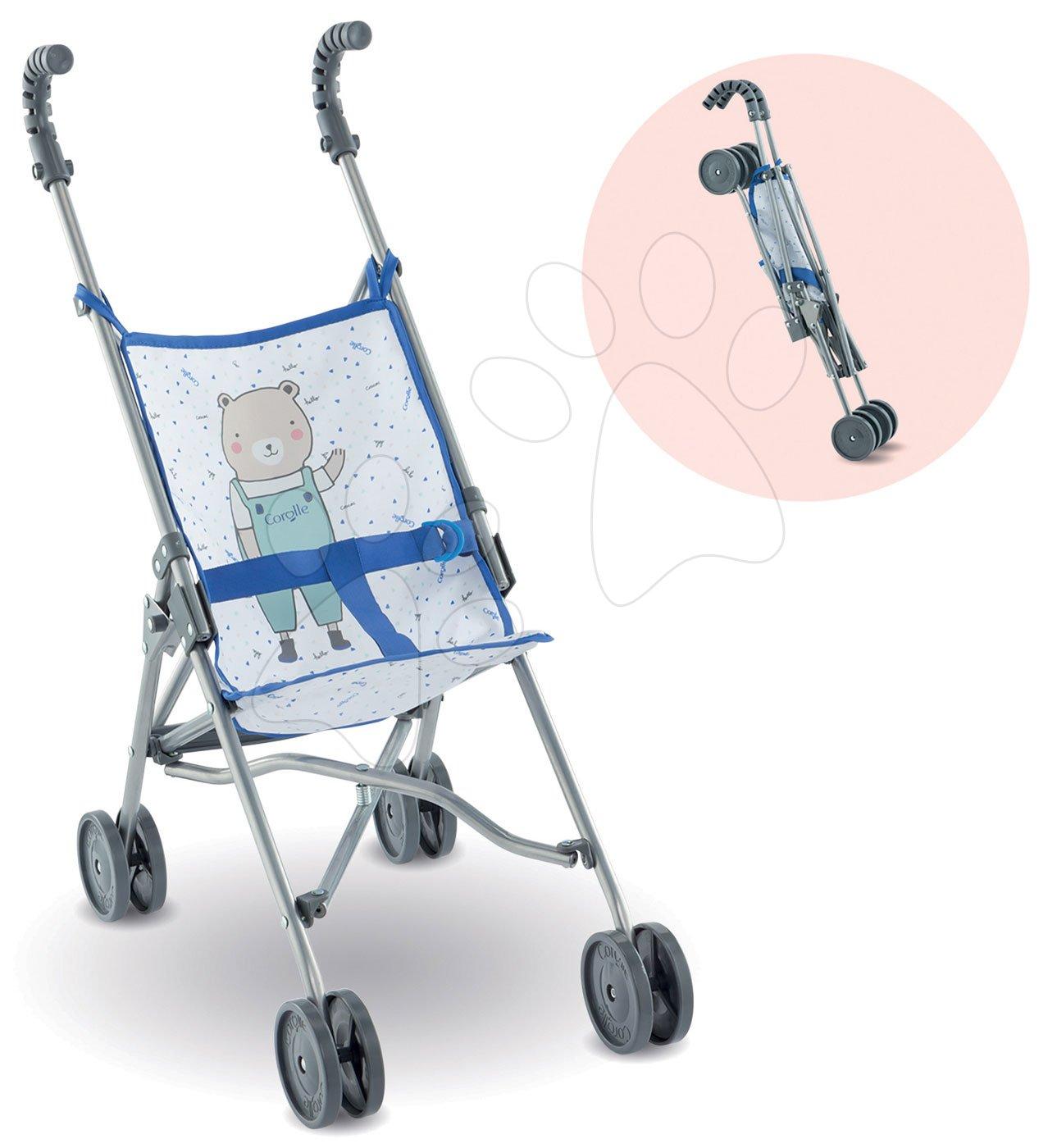 Kočík skladací Umbrella Stroller Mon Grand Poupon Corolle Canne Blue pre 36-42 cm bábiku od 24 mes