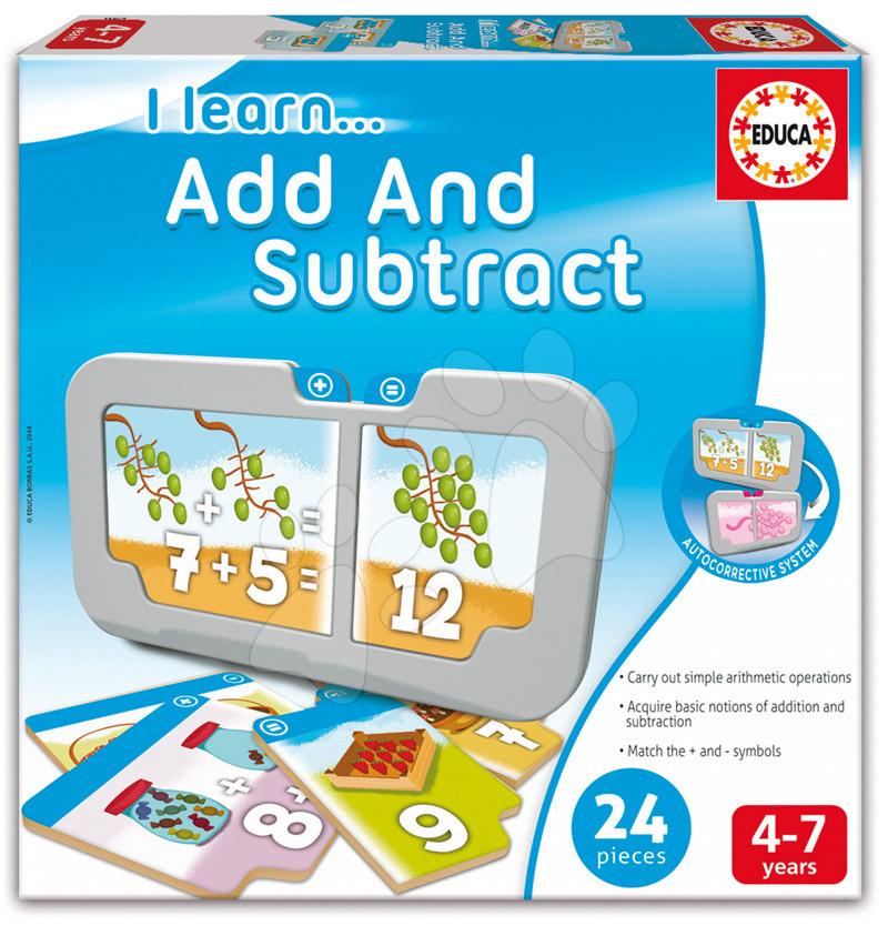 Naučná hra pro děti Učíme se sčítat a odčítat Educa 24 dílků od 4-7 let