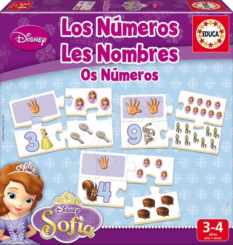 Naučná hra pro nejmenší Učíme se čísla a počítat Sofia Educa 40 dílků od 3 let