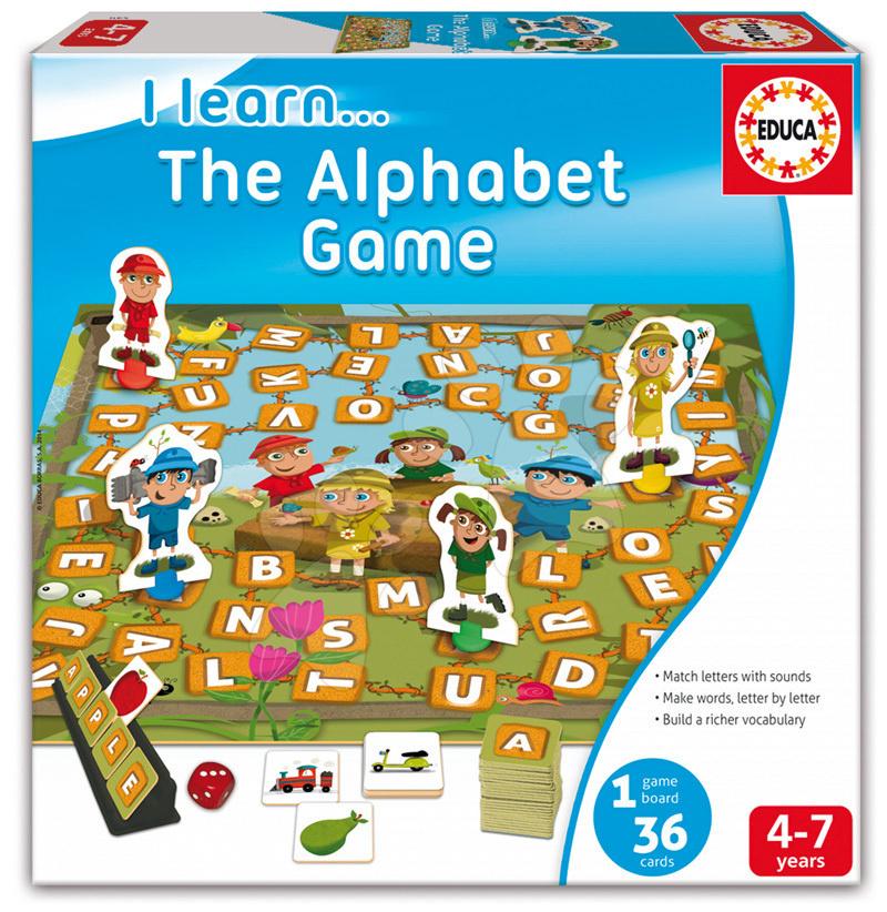 Dětská naučná hra Učíme se hrát se slovy Educa 36 dílků v angličtině od 4-7 let