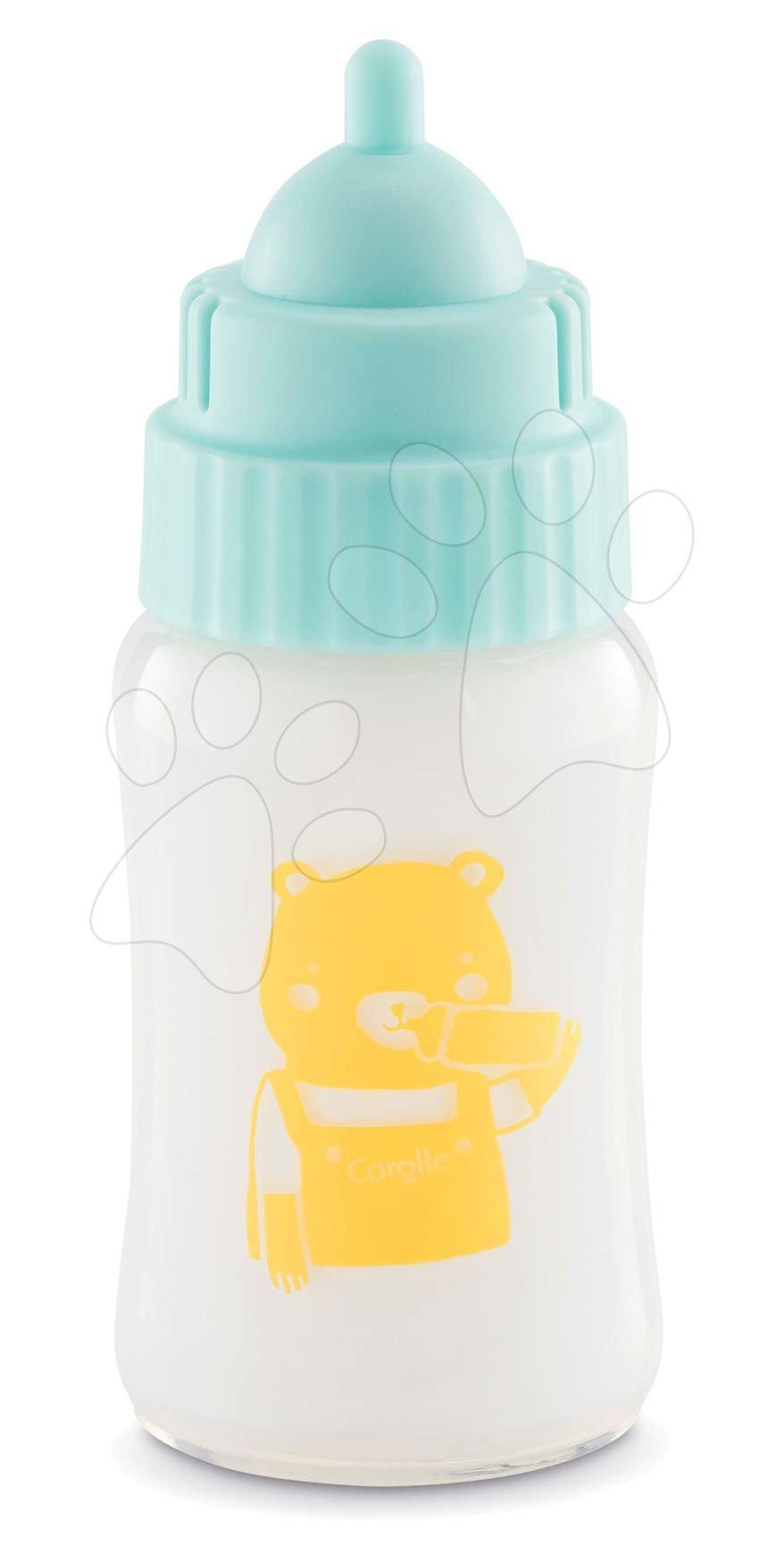 Accesorii pentru păpuși - Sticlă cu lapte și sunete Milk Bottle with Sound Mon Grand Poupon Corolle pentru păpușă de 36-42 cm de la 3 ani