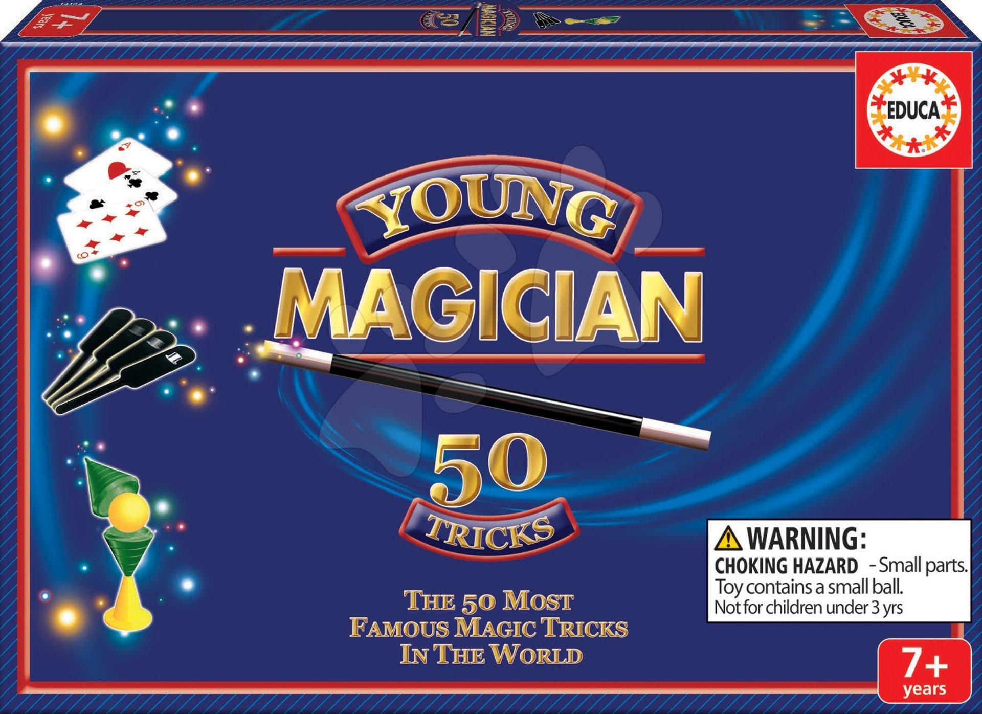 Cudzojazyčné spoločenské hry - Sada 50 kúzelníckych hier a trikov Magia Borras Educa v angličtine od 7 rokov