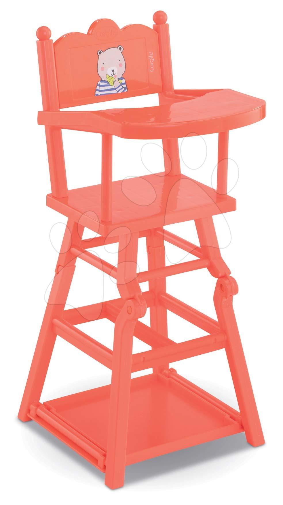 Scaun de masă roz High Chair 2in1 Mon Grand Poupon Corolle pentru păpușă de 36-42 cm roz