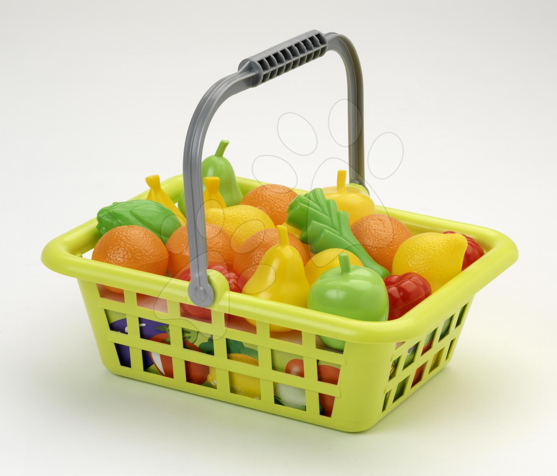 Staré položky - Košík s ovocím a zeleninou Écoiffier veľký od 18 mes