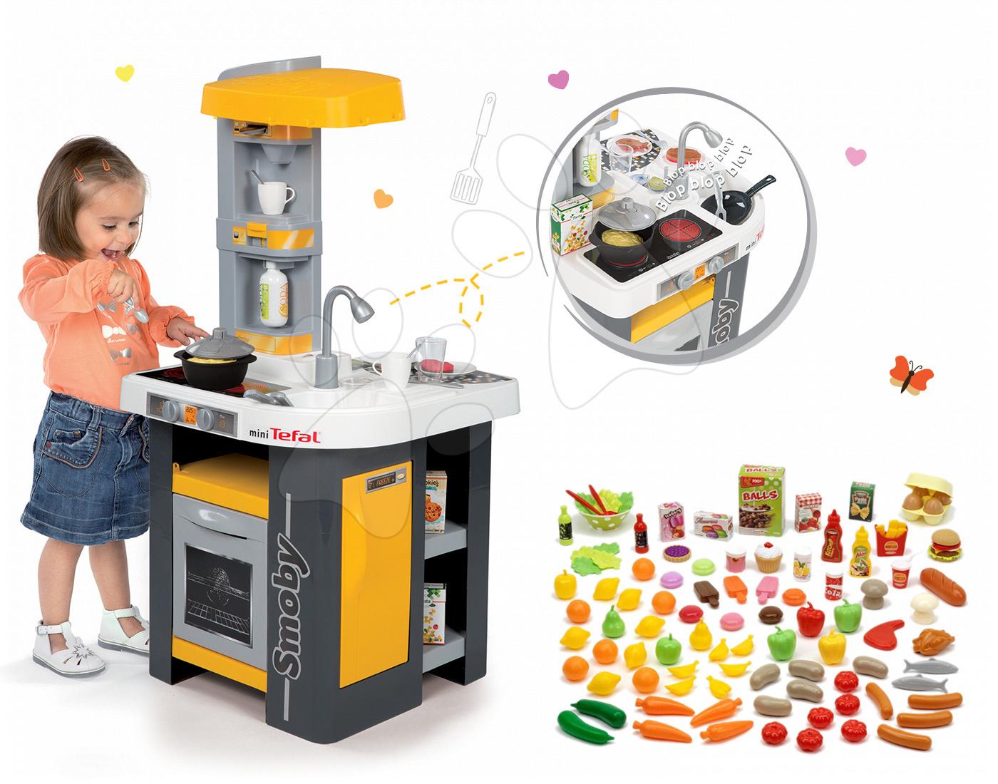 Set kuchyňka Tefal Studio Smoby s automatem na sodu, sada potravin do kuchyňky