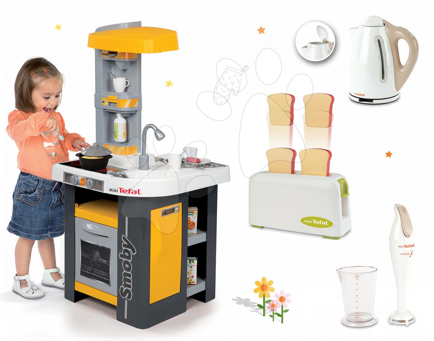 Set kuchyňka Tefal Studio Smoby s automatem na sodu a kuchyňské spotřebiče
