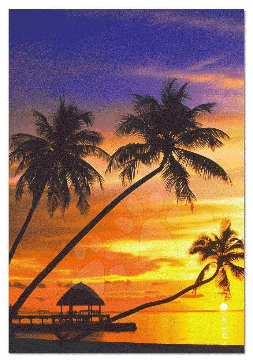 Puzzle 1000 dílků - Puzzle západ slunce na Maldives Educa 1000 dílků