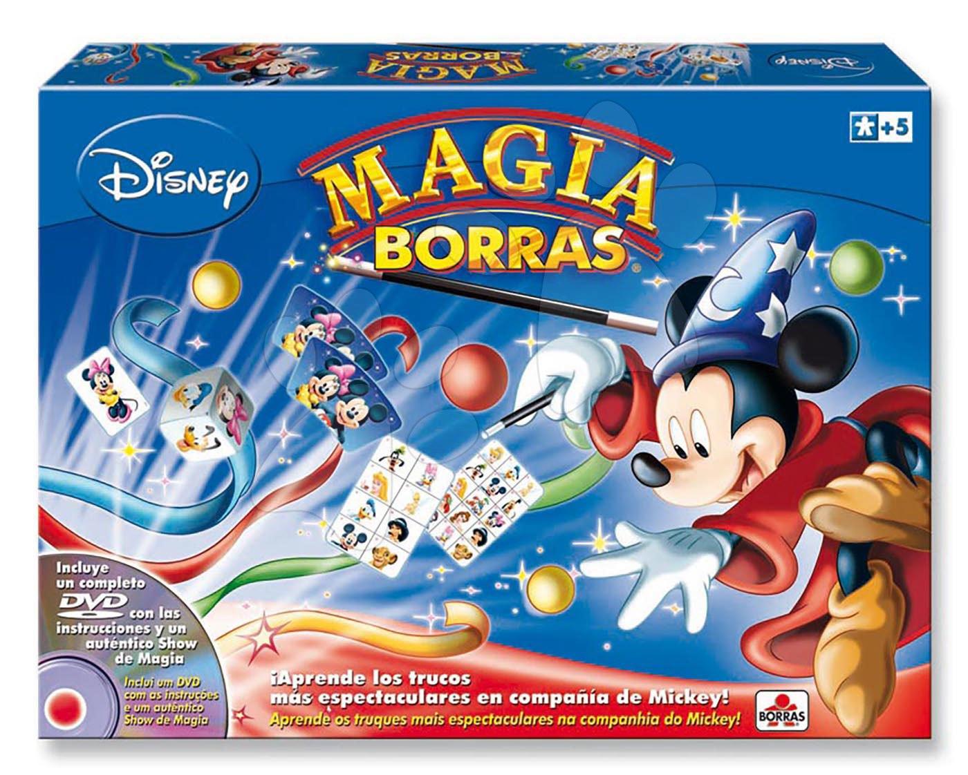 Kúzelnícke hry Mickey Mouse Disney Magia Borras Educa s vysvetľujúcim DVD od 5 rokov španielsky