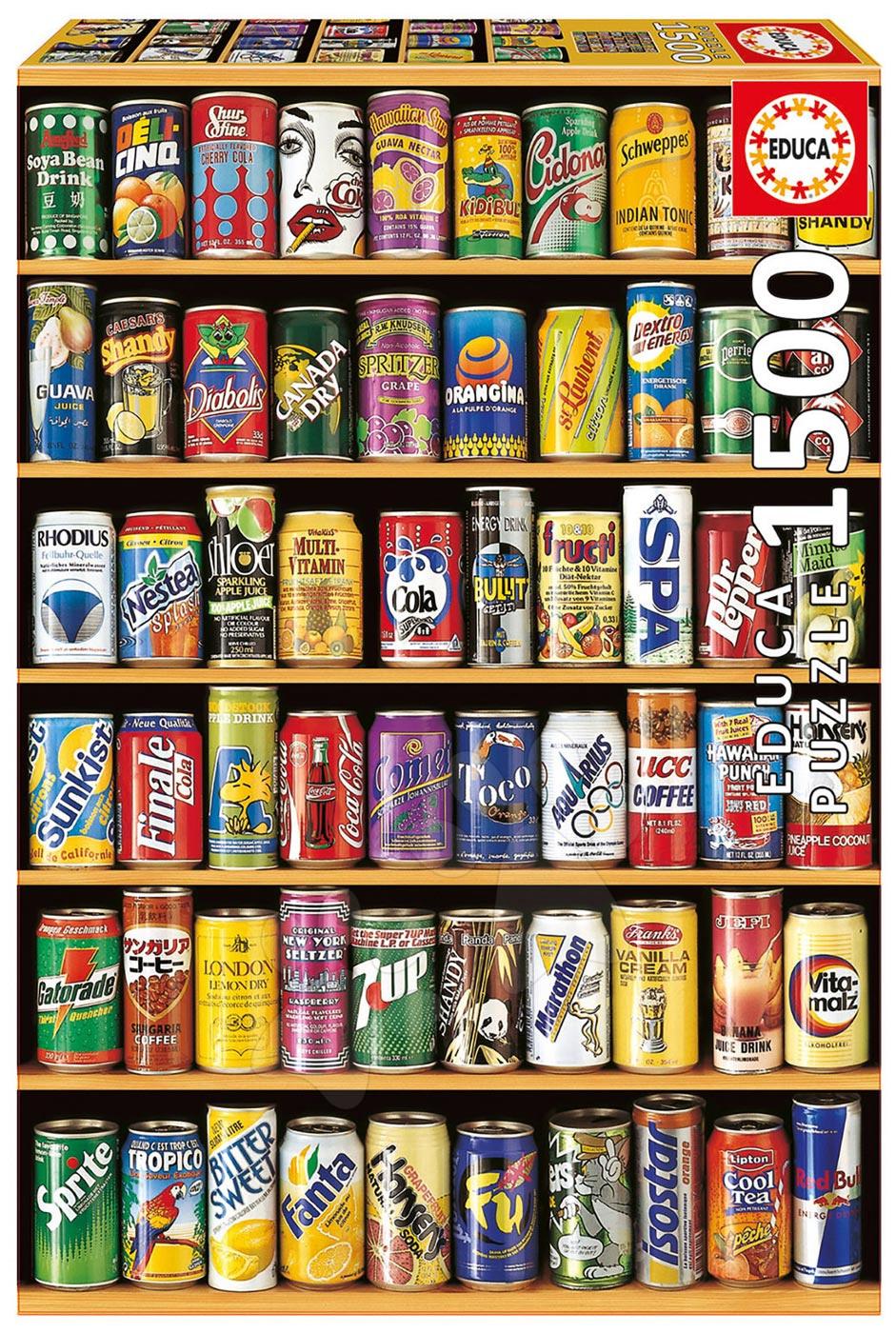 Educa Puzzle Plechovky 1 500 dielov 14446 farebné