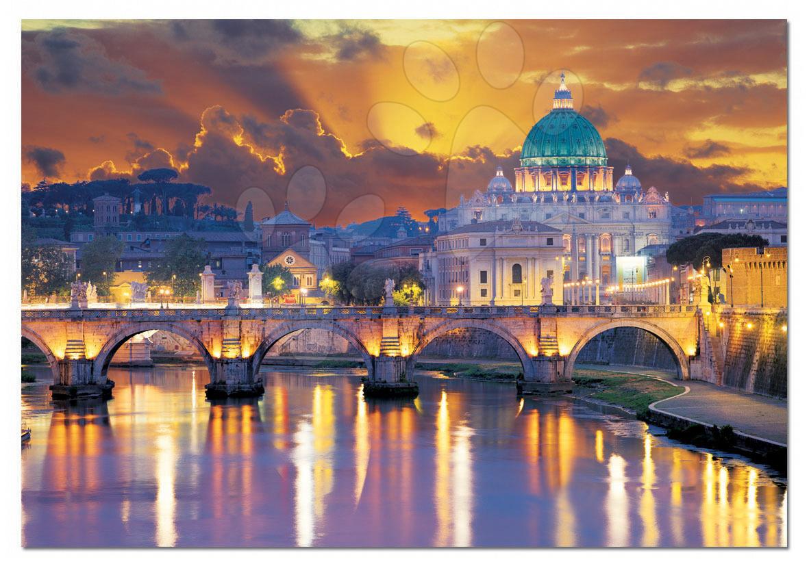 Staré položky - Puzzle San Angelo Bridge / Roma / Educa 2000 dílků