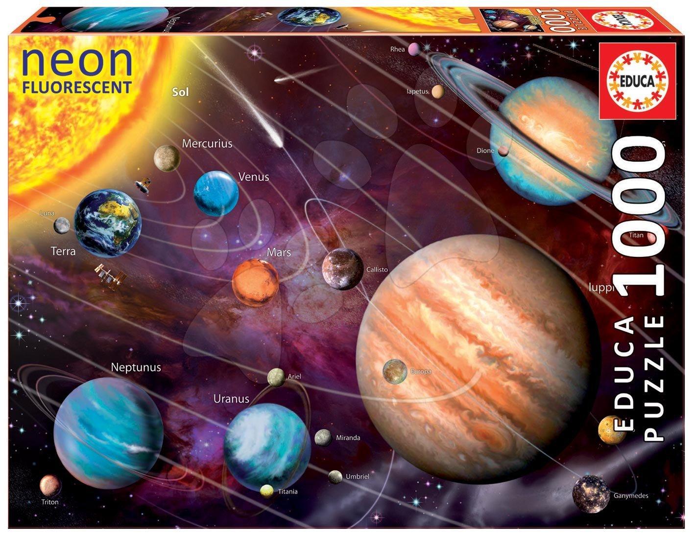 Educa puzzle Neon Solar System 1000 dielikov 14461 farebné