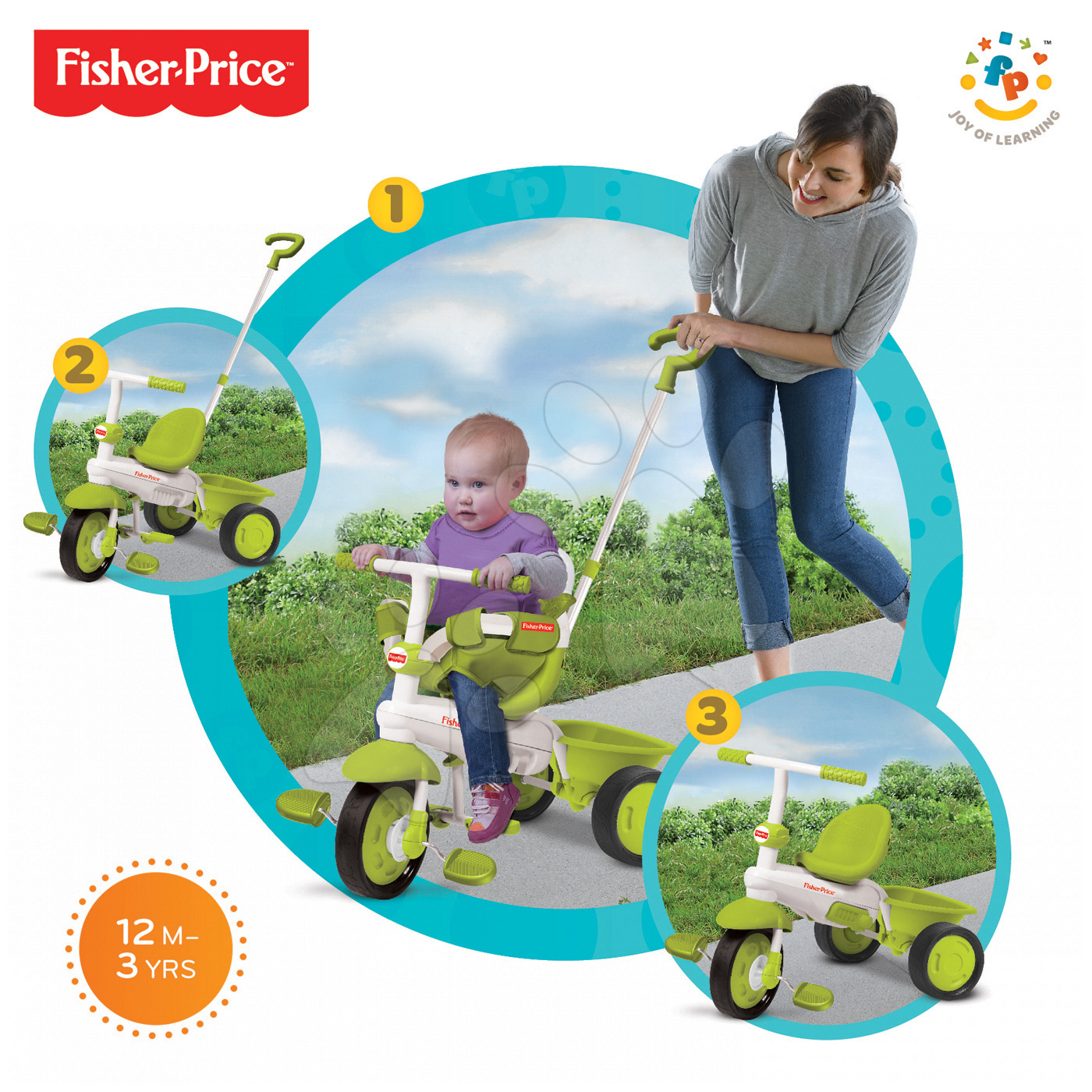 Tříkolka Fisher-Price Classic Green smarTrike zelená od 10 měsíců