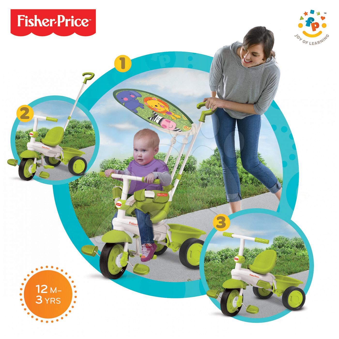 Trojkolka smarTrike Fisher-Price Classic Plus Green 1461133 zelená