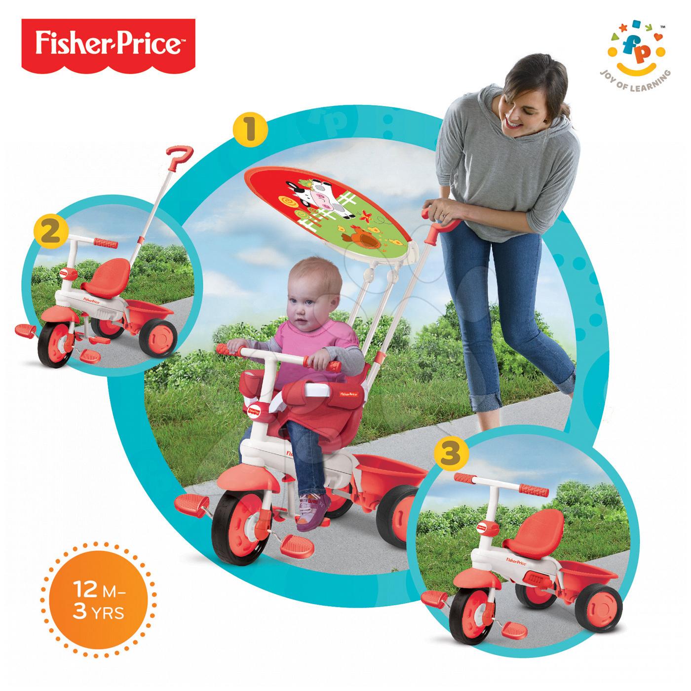 Tříkolka Fisher-Price Classic Plus smarTrike červená od 10 měsíců