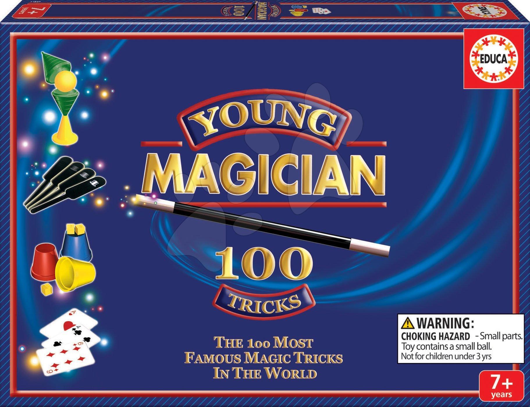 Sada 100 kouzelnických her a triků Magia Borras Educa v angličtině od 7 let