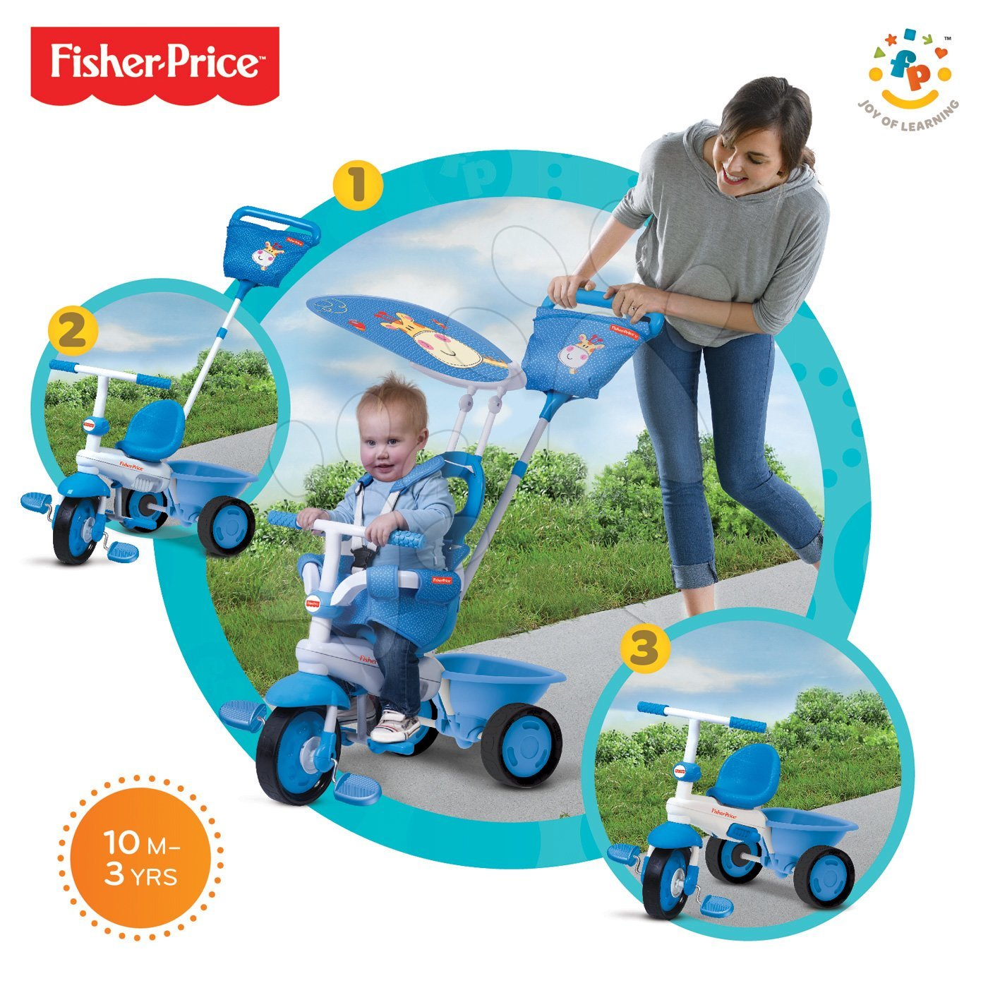 fisher price touch steering trike instructions