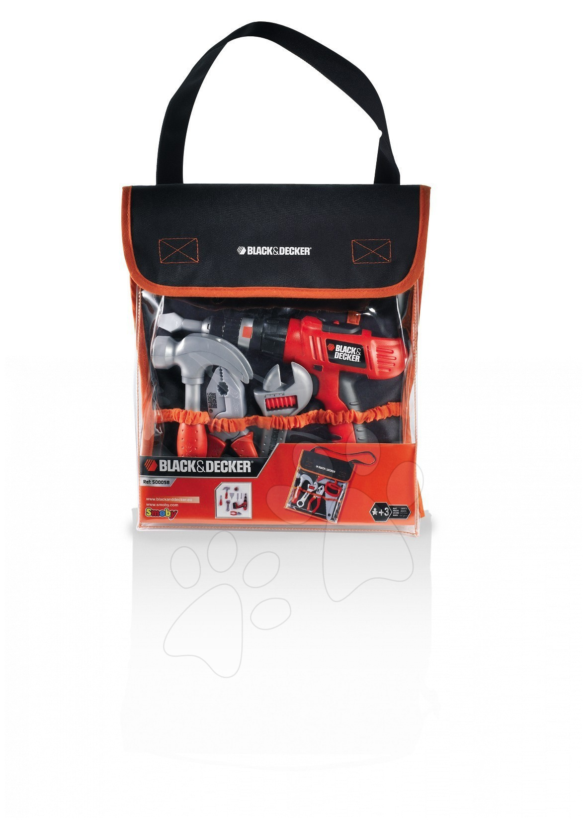 Pracovní nástroje pro děti Black&Decker Smoby v tašce s mechanickou vrtačkou 6 kusů